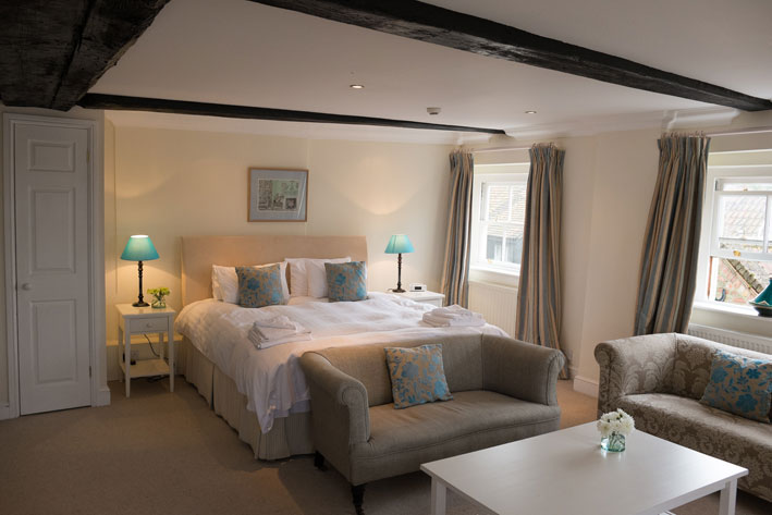 Bedrooms are luxurious at Bank House