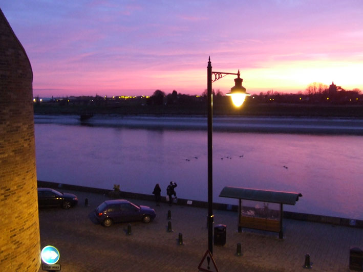 Enjoy spectacular sunsets at Bank House