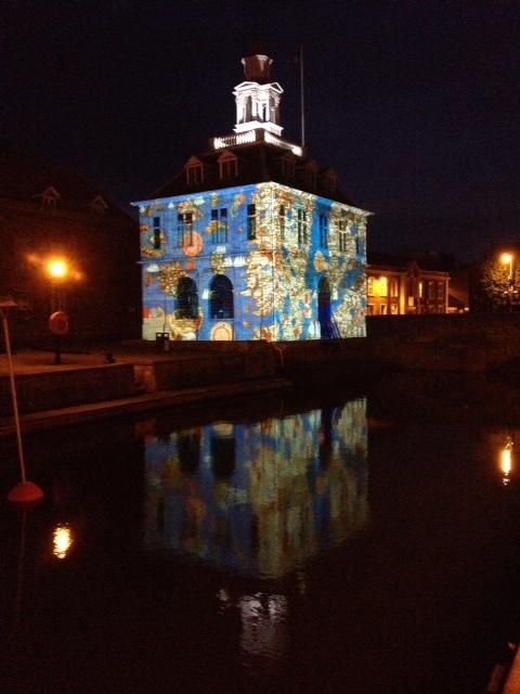 Custom House Amiens lights July 2014